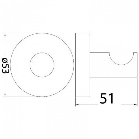 OPUS BLACK ROBE HOOK - 8115-B