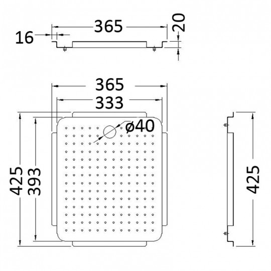STAINLESS STEEL TRAY - ST940