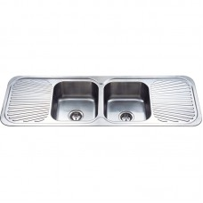CORA DOUBLE BOWLS & DOUBLE DRAINERS KITCHEN SINK - C-1380