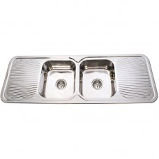 CORA DOUBLE BOWLS & DOUBLE DRAINERS KITCHEN SINK - P-1500