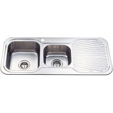 CORA 1 & 3/4 BOWL & SINGLE DRAINER KITCHEN SINK - P1080LHB