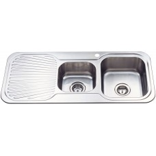 CORA 1 & 3/4 BOWL & SINGLE DRAINER KITCHEN SINK - P1080RHB