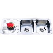 CORA DOUBLE BOWLS KITCHEN SINK - P1180RHB