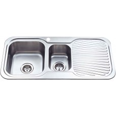 CORA 1 & 1/2 BOWL & SINGLE DRAINER KITCHEN SINK - P980LHB