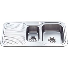 CORA 1 & 1/2 BOWL & SINGLE DRAINER KITCHEN SINK - P980RHB