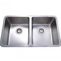 CORA DOUBLE BOWLS ABOVE / UNDERMOUNT SINK - PR4034D