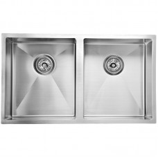 EDEN DOUBLE BOWLS ABOVE / UNDERMOUNT SINK (R10 CORNER) - PS340DR