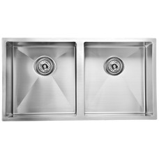 EDEN DOUBLE BOWLS ABOVE / UNDERMOUNT SINK (R10 CORNER) - PS400DR