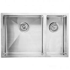 EDEN ONE AND HALF BOWLS ABOVE / UNDERMOUNT SINK (R10 CORNER) - PS670DR