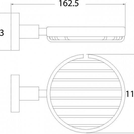 OPUS BLACK SOAP BASKET - 8124-B