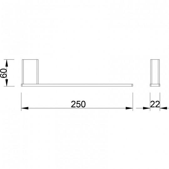 AIKO TOWEL BAR - 7104