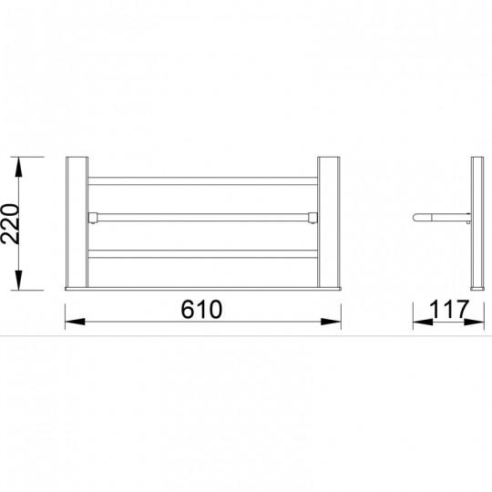 AIKO TOWEL RACK - 7112-60