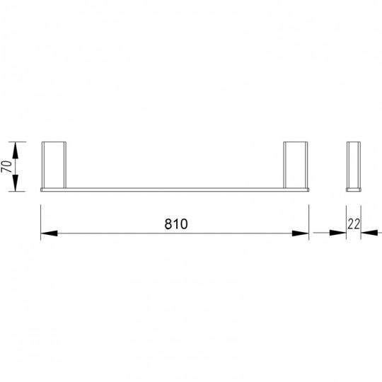 AIKO SINGLE TOWEL RAIL - 7101-810