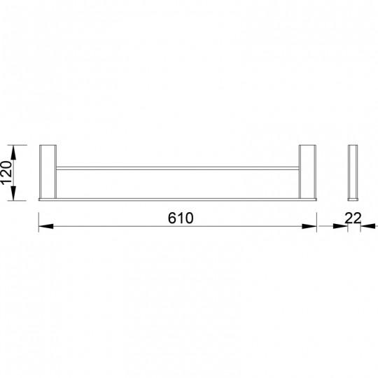 AIKO DOUBLE TOWEL RAIL - 7102-610
