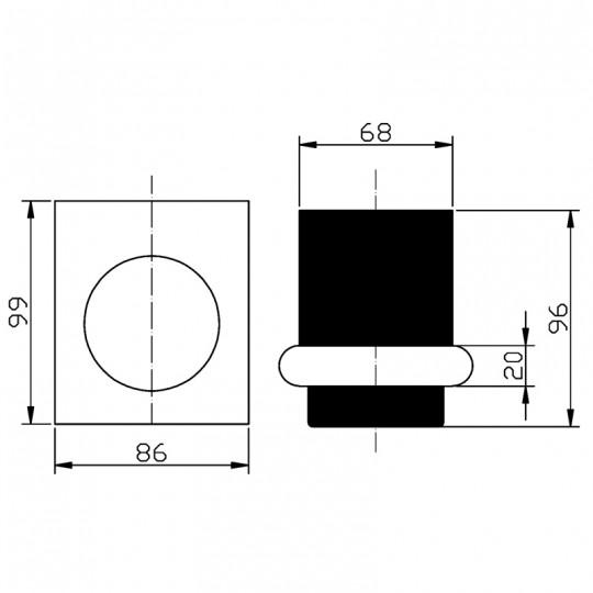 CORA TUMBLER HOLDER - 5307-2-CW