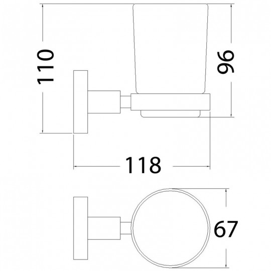 OPUS TUMBLER HOLDER - 8121