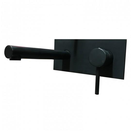 OPUS BLACK WALL BASIN MIXER SET - PC3004SB-B