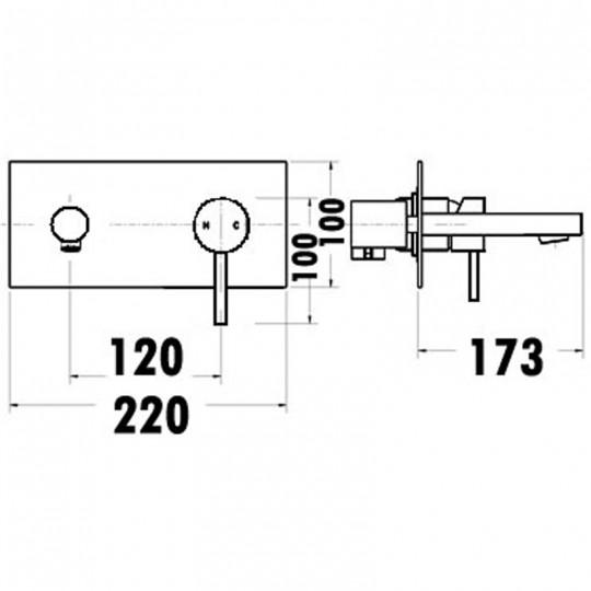 OPUS PIN HANDLE BATH MIXER - PC3004SB