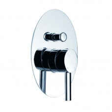 OVAL PIN HANDLE WALL/SHOWER MIXER WITH DIVERTER - PO3002SB