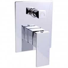 ROSA SQUARE BAHT/SHOWER MIXER WITH DIVERTER - PSS3002SB