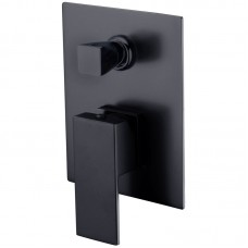 ROSA BLACK SQUARE BAHT/SHOWER MIXER WITH DIVERTER - PSS3002SB-B